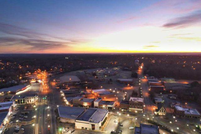 Pemandangan Indah Di Kota Alexander, Alabama